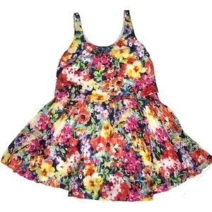 Ralph Lauren floral bright tiered mini dress